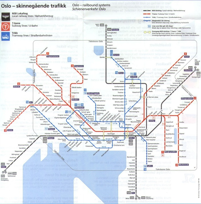 Oslo Transport Map