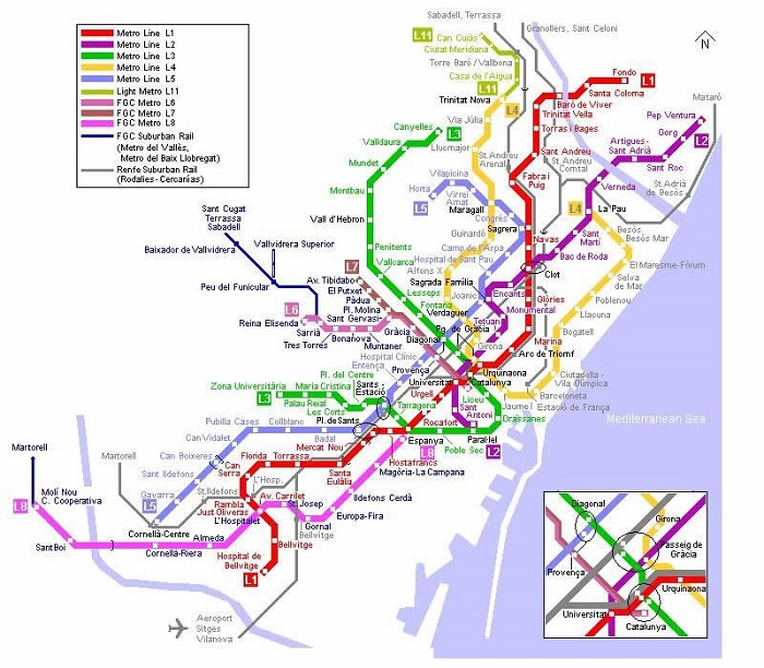 Palma Metro Map