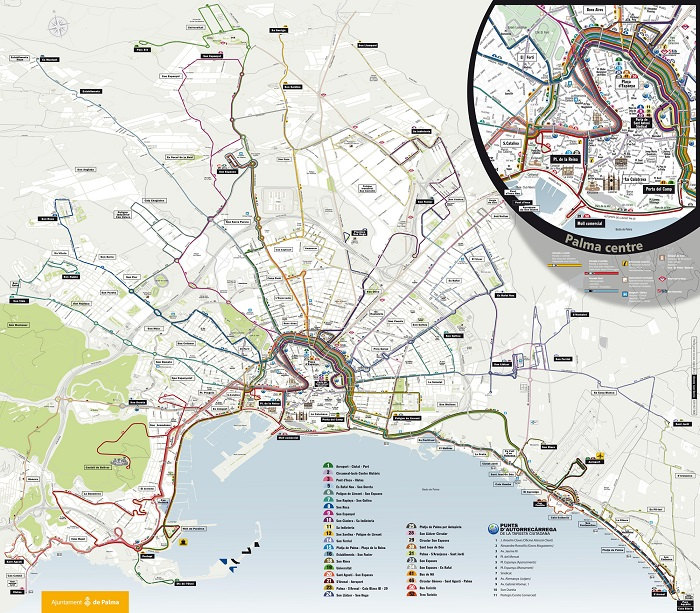 Palma Transport Map