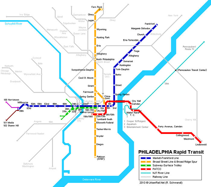 Philadelphia Metro Map
