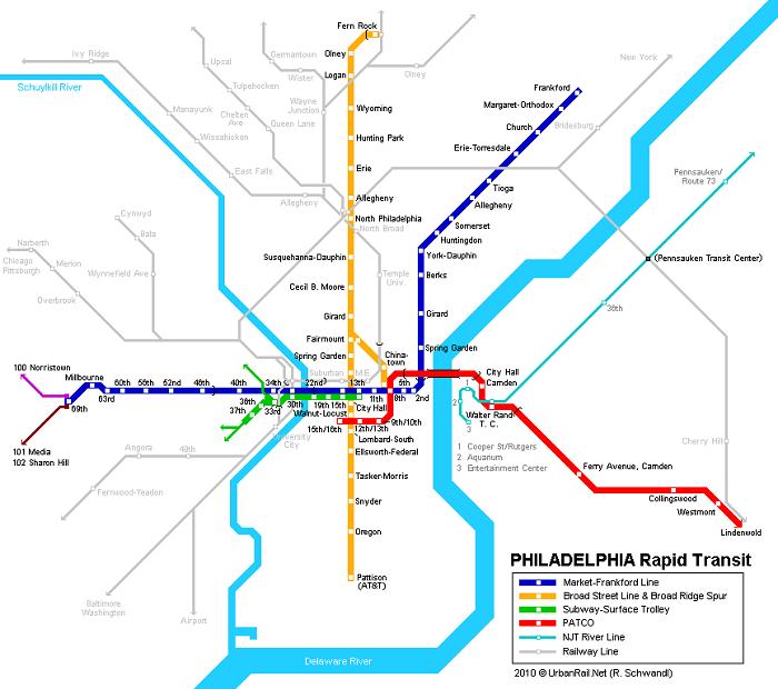 Philadelphia Metro Map