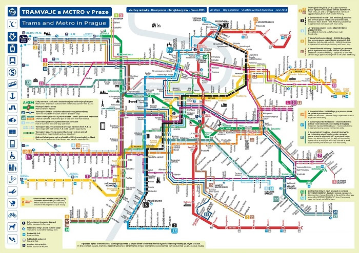 Prague Transport Map