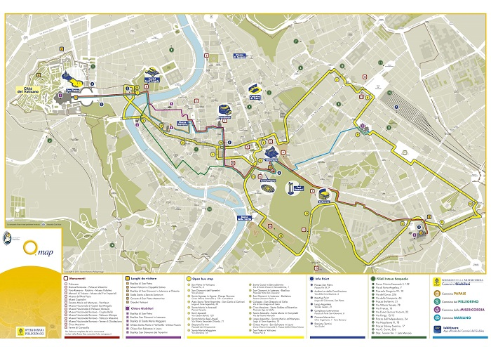 Roma Cristiana Open Bus Route Map
