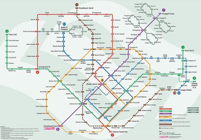 Singapore Transport Map