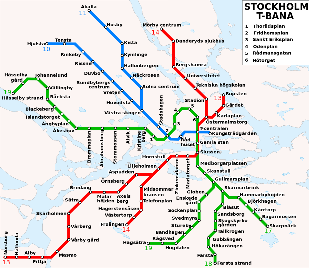 Stockholm Transport Map