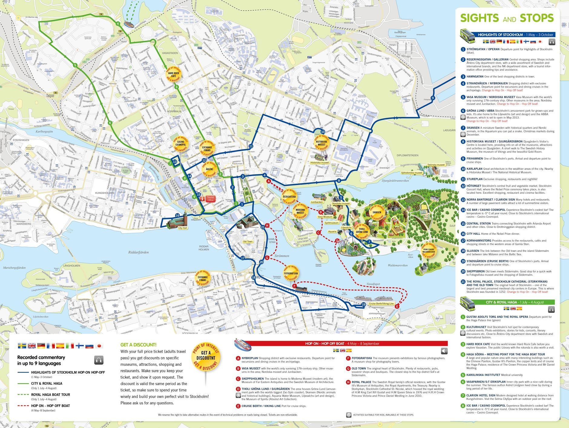 Stockholm Walking Tour Map