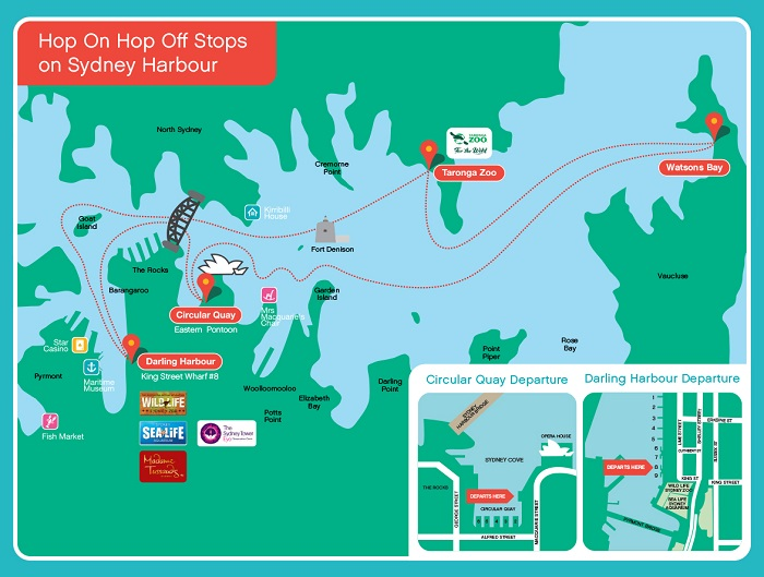 Sydney Explorer Hop-on Hop-off Bus Tour Map