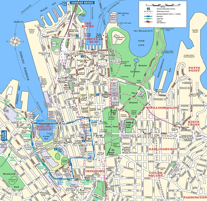 Sydney Tourist Map