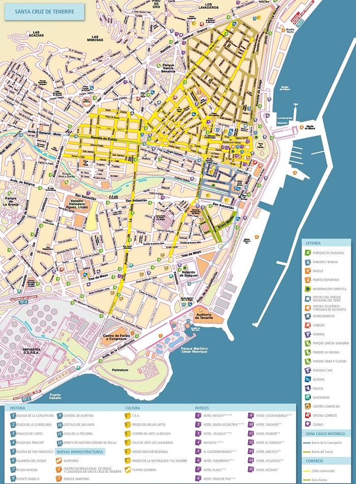 Tenerife Tourist Map