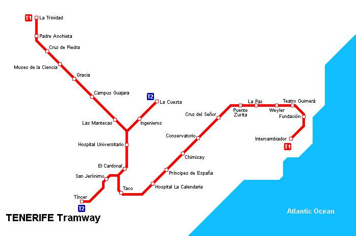 Tenerife Transport Map