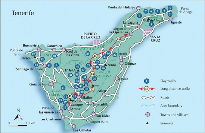 Tenerife Walking Tour Maps