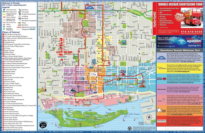 Toronto Hop-On Hop-Off Bus Tour Map