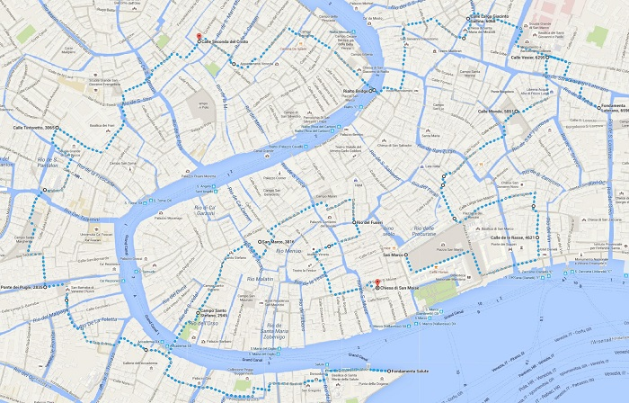 Venice Walking Map