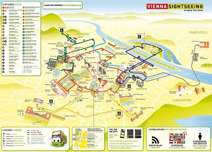 Vienna Sightseeing Bus Tour Map
