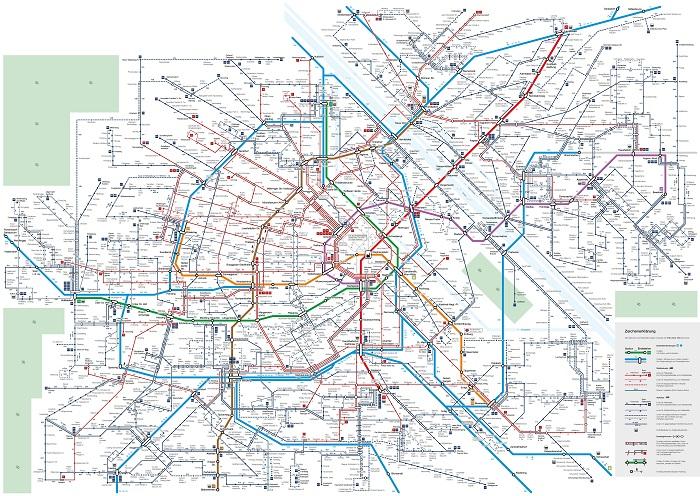 Vienna Transport Map