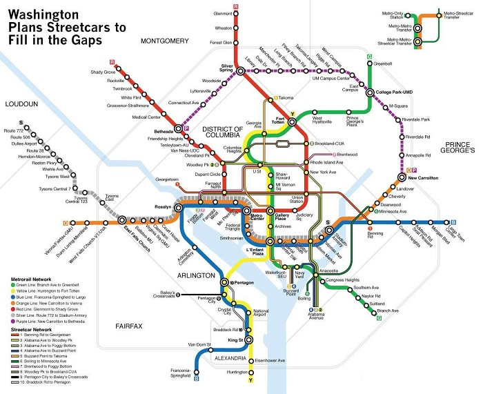 Washington Transport Map