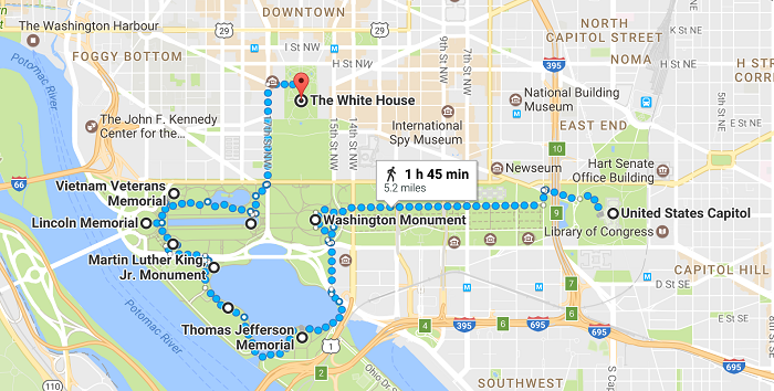 Washington Walking Tour Map