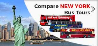 Compare NEW-YORK Hop off Hop on Bus Tours