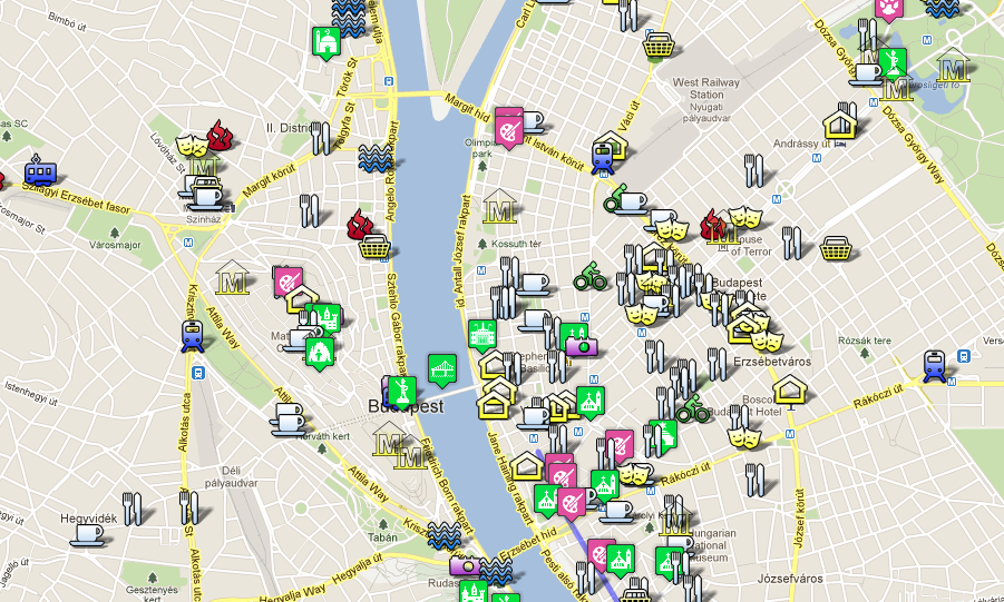 Budapest Attractions Map PDF - FREE Printable Tourist Map