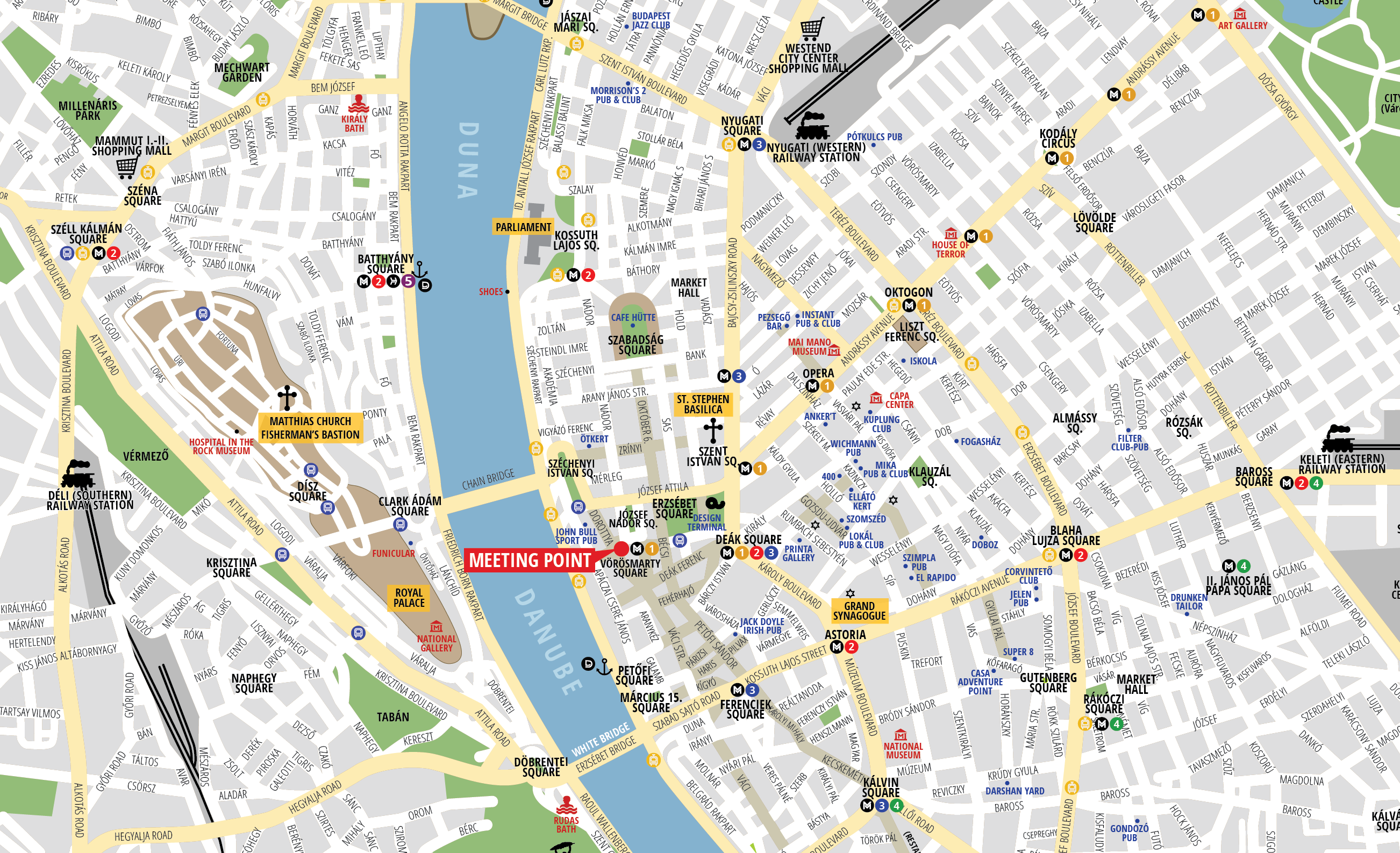 Budapest Attractions Map Pdf Free Printable Tourist Map