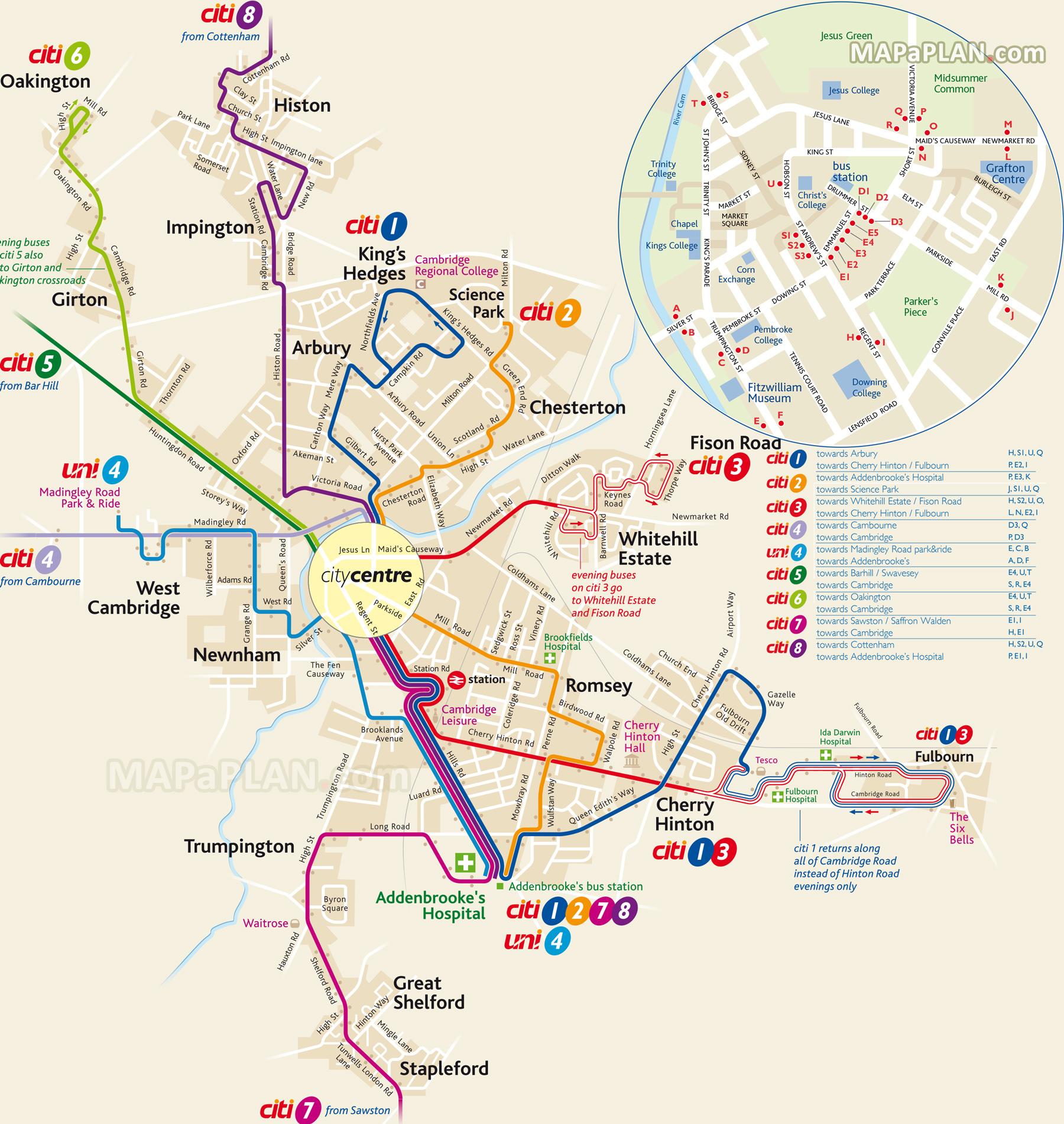 「cambridge bus map」の画像検索結果