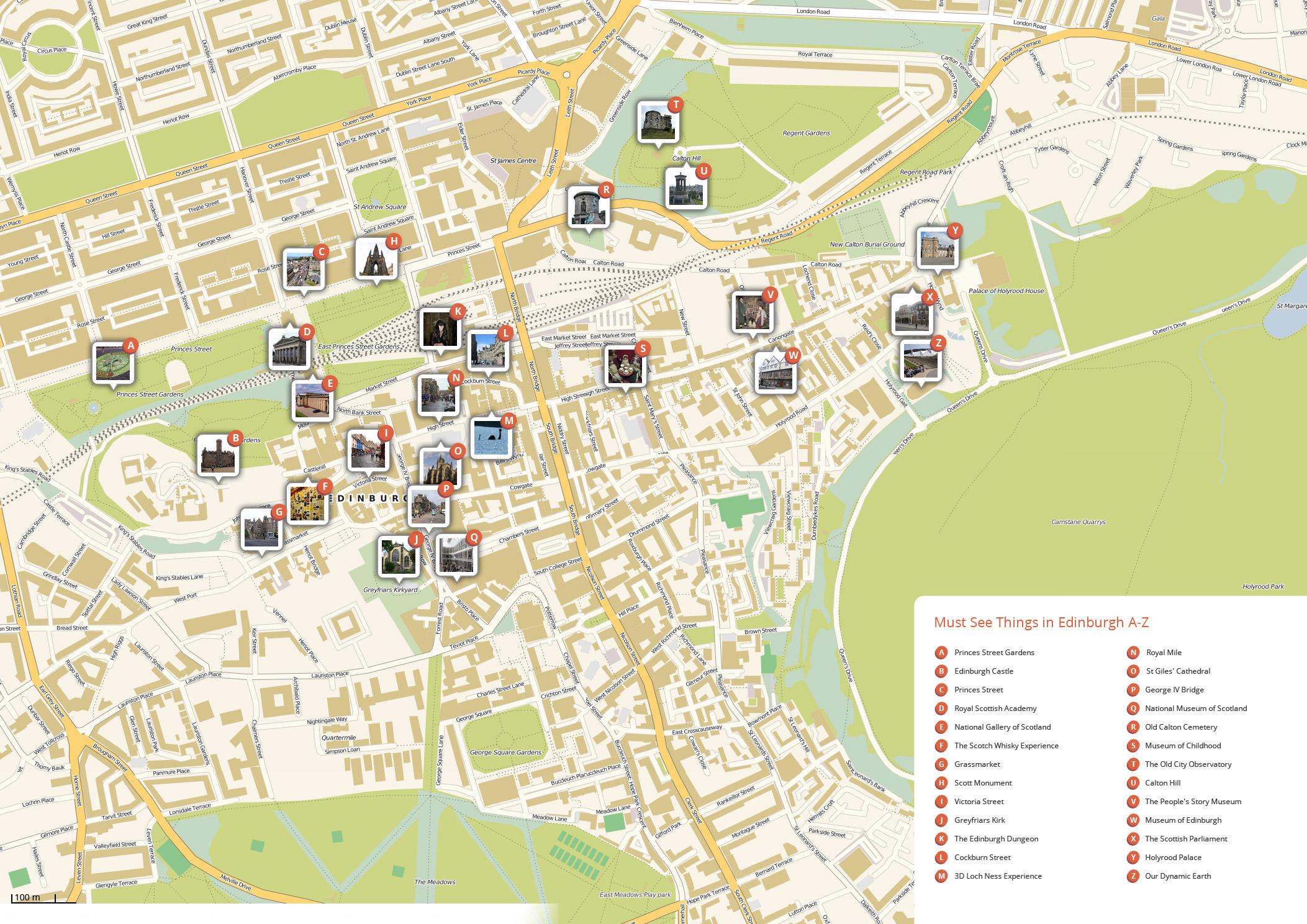 Edinburgh Attractions Map PDF - FREE Printable Tourist Map