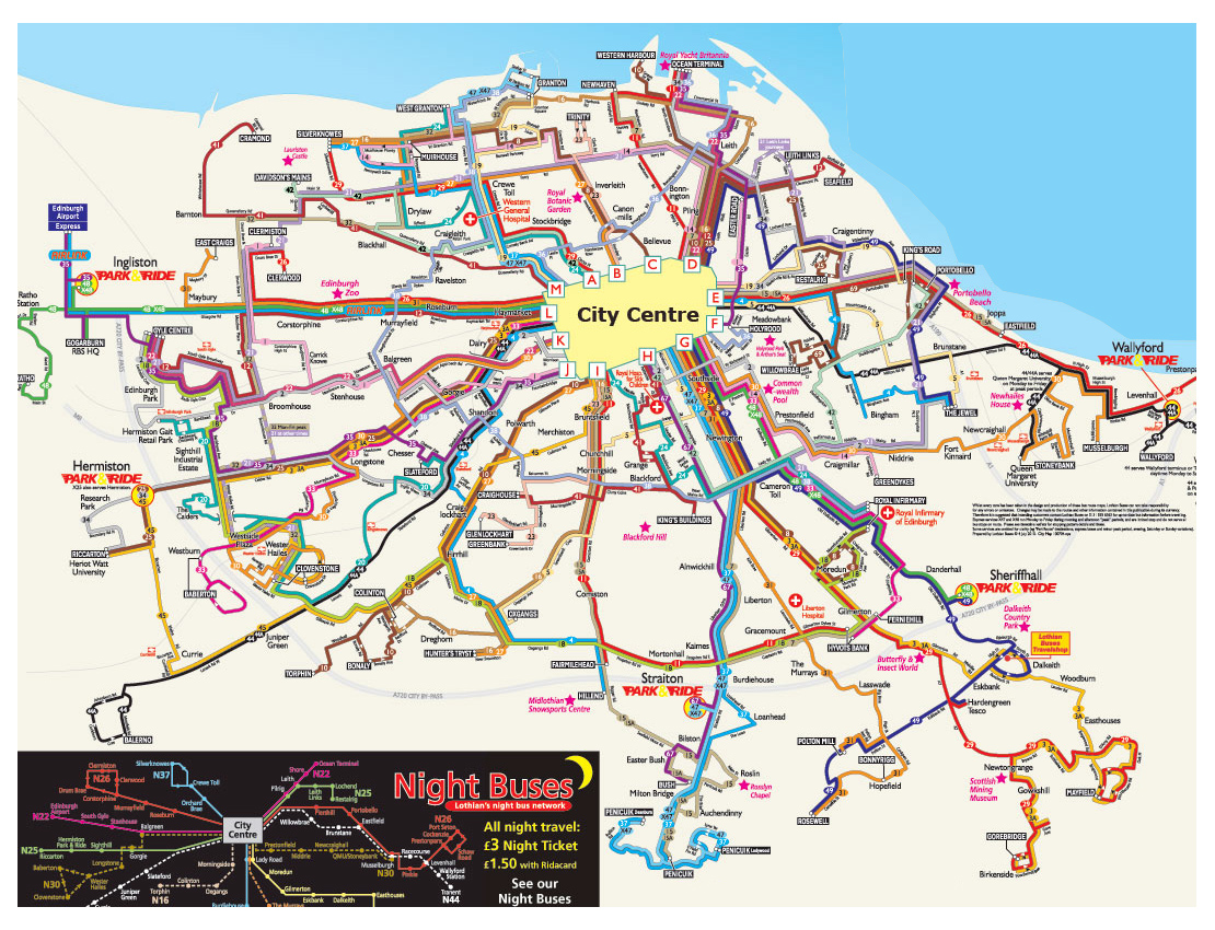Edinburgh Hop On Hop Off Map Edinburgh Hop On Hop Off Bus Route Map PDF, Stops 2019 | Tripindicator