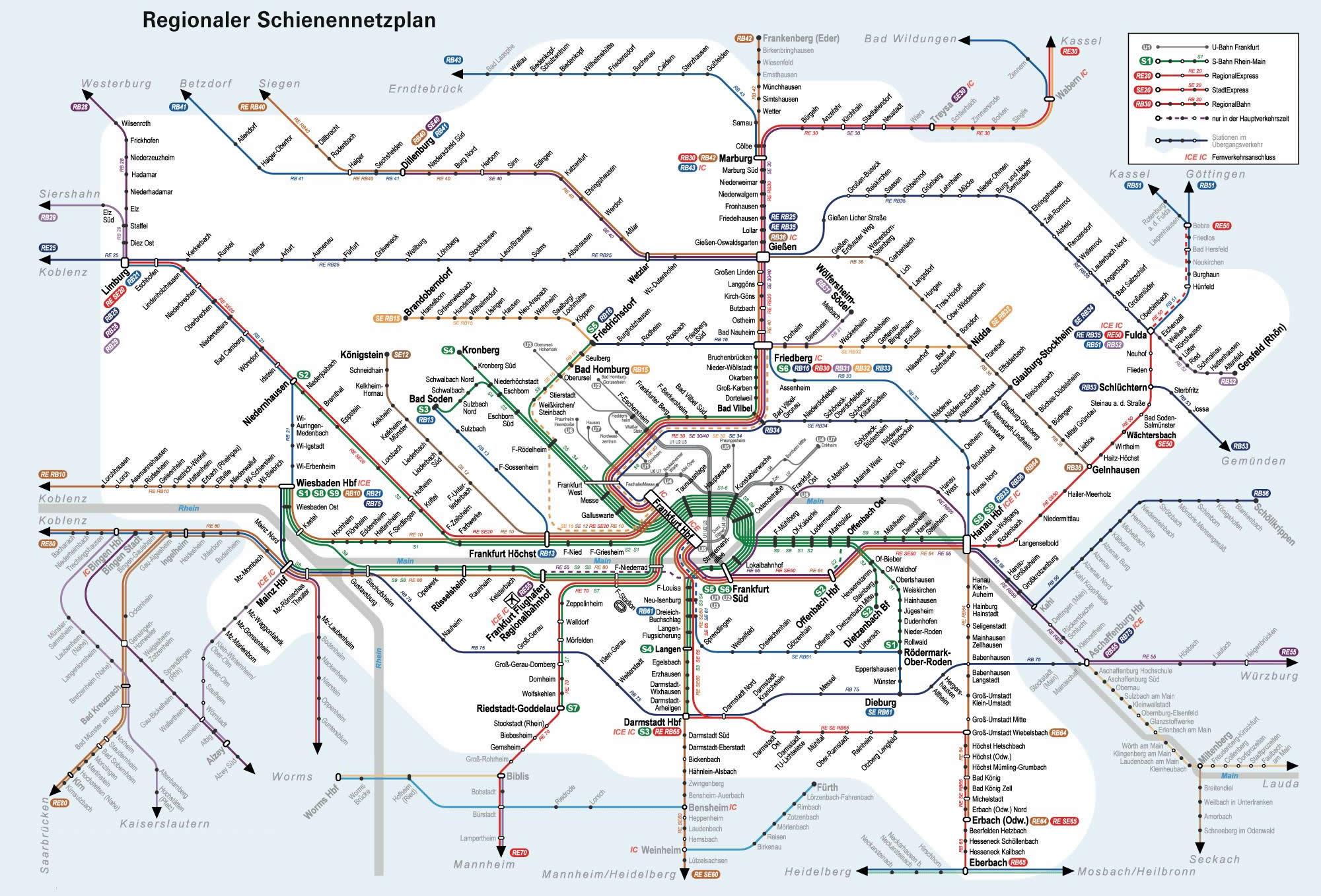 Frankfurt Metro Map