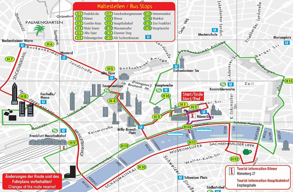 Frankfurt Attractions Map Pdf Free Printable Tourist Map