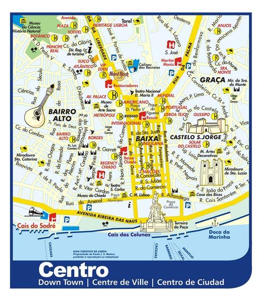 Lisbon Attractions Map Pdf Free Printable Tourist Map Lisbon