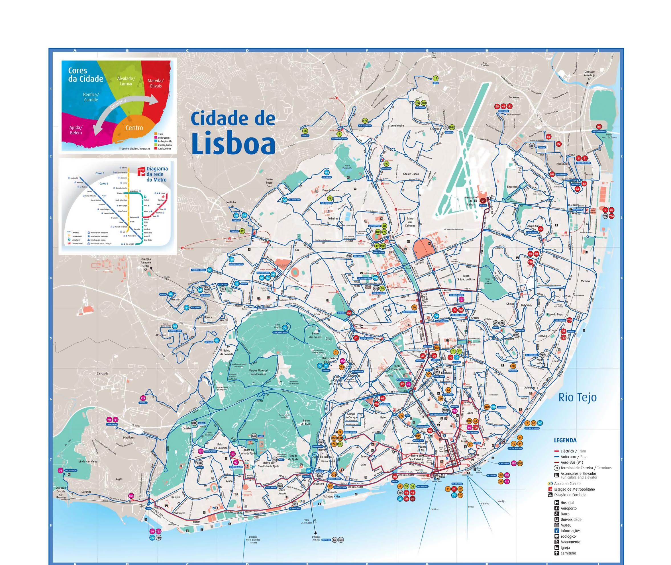 Subway Map Lisbon Pdf.Lisbon Attractions Map Pdf Free Printable Tourist Map Lisbon