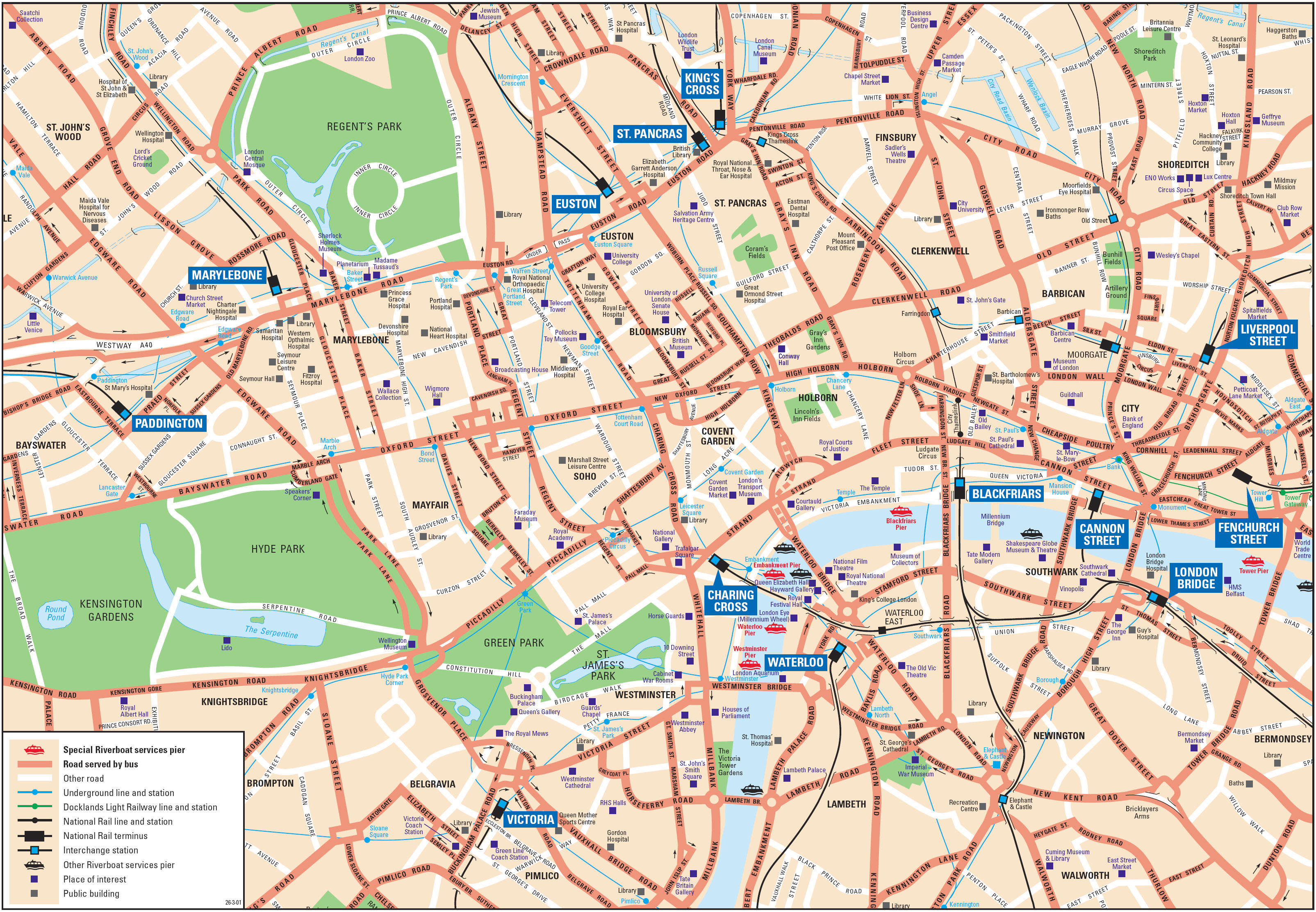Tourist Map Of London England.London Attractions Map Pdf Free Printable Tourist Map