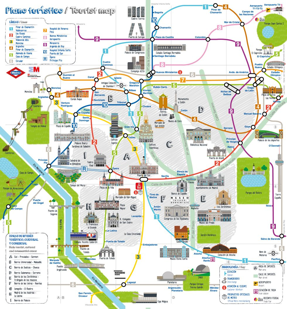 Mapa Turistico Amsterdam Pdf.Madrid Hop On Hop Off Bus Route Map Combo Deals 2020