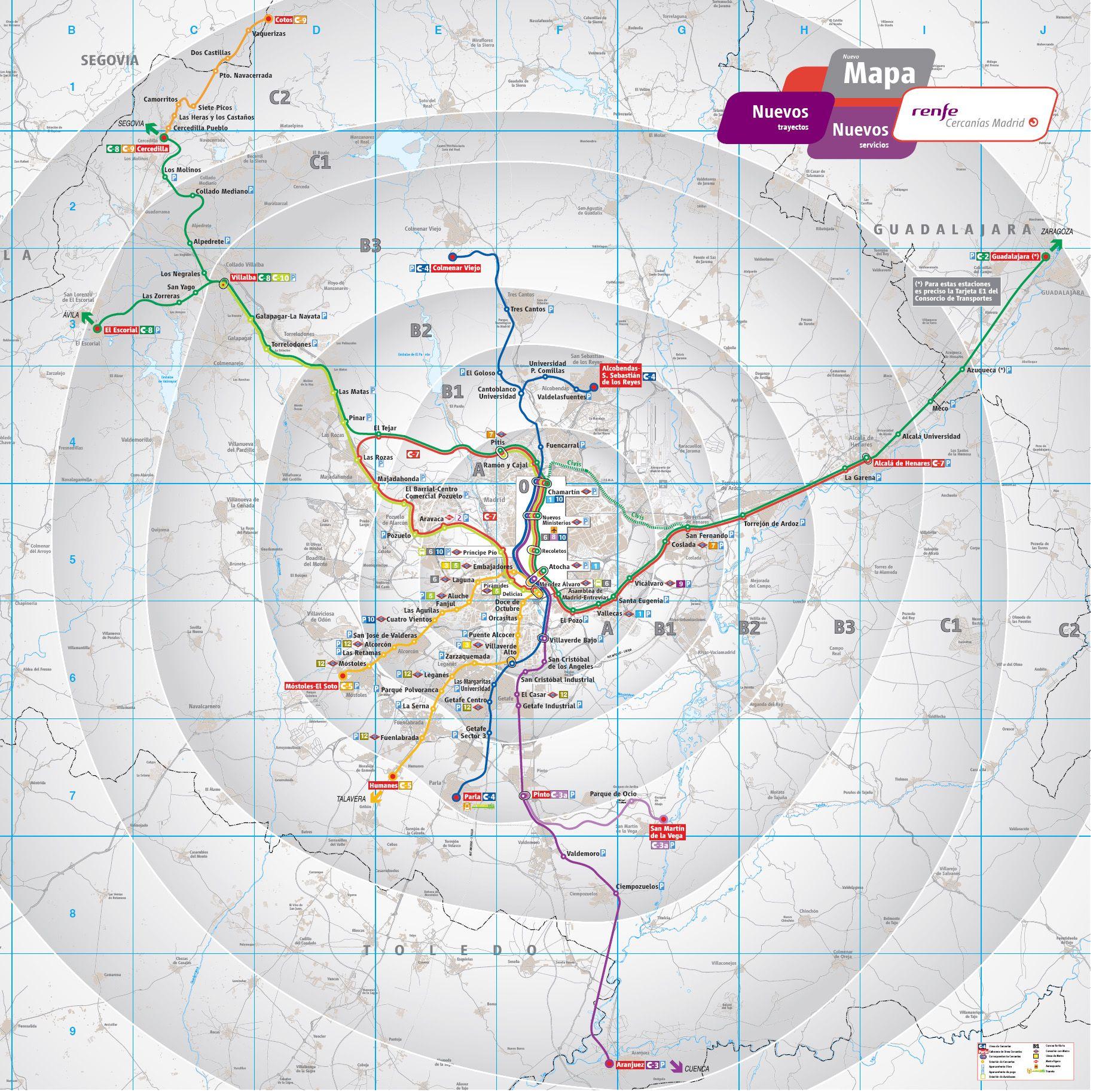 Mapa De Tren Madrid.Madrid Hop On Hop Off Bus Route Map Combo Deals 2020
