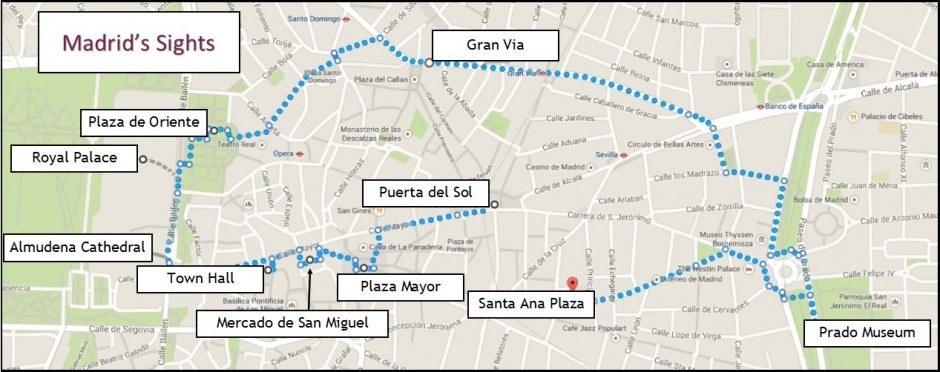 Madrid Attractions Map PDF - FREE Printable Tourist Map Madrid ...