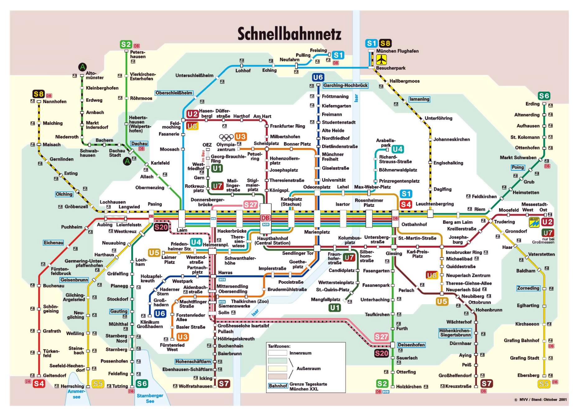 Munich Attractions Map PDF - FREE Printable Tourist Map Munich ...
