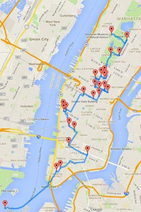 New York Hop On Hop Off Bus, Route Map PDF, NYC Combo