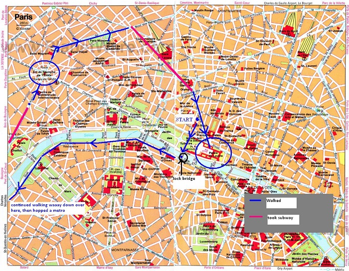 paris attractions map pdf