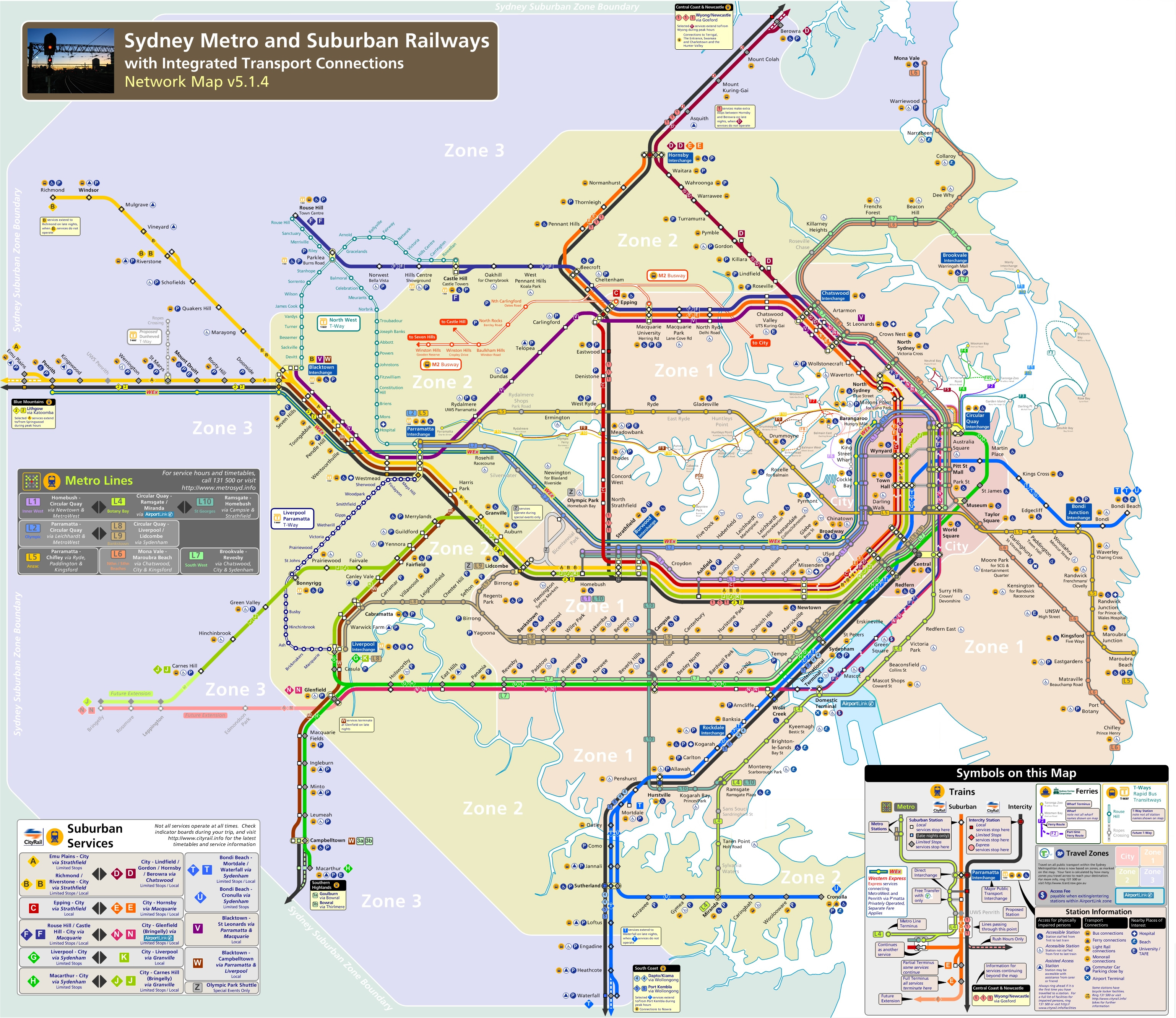 Sydney Attractions Map Pdf Free Printable Tourist Map