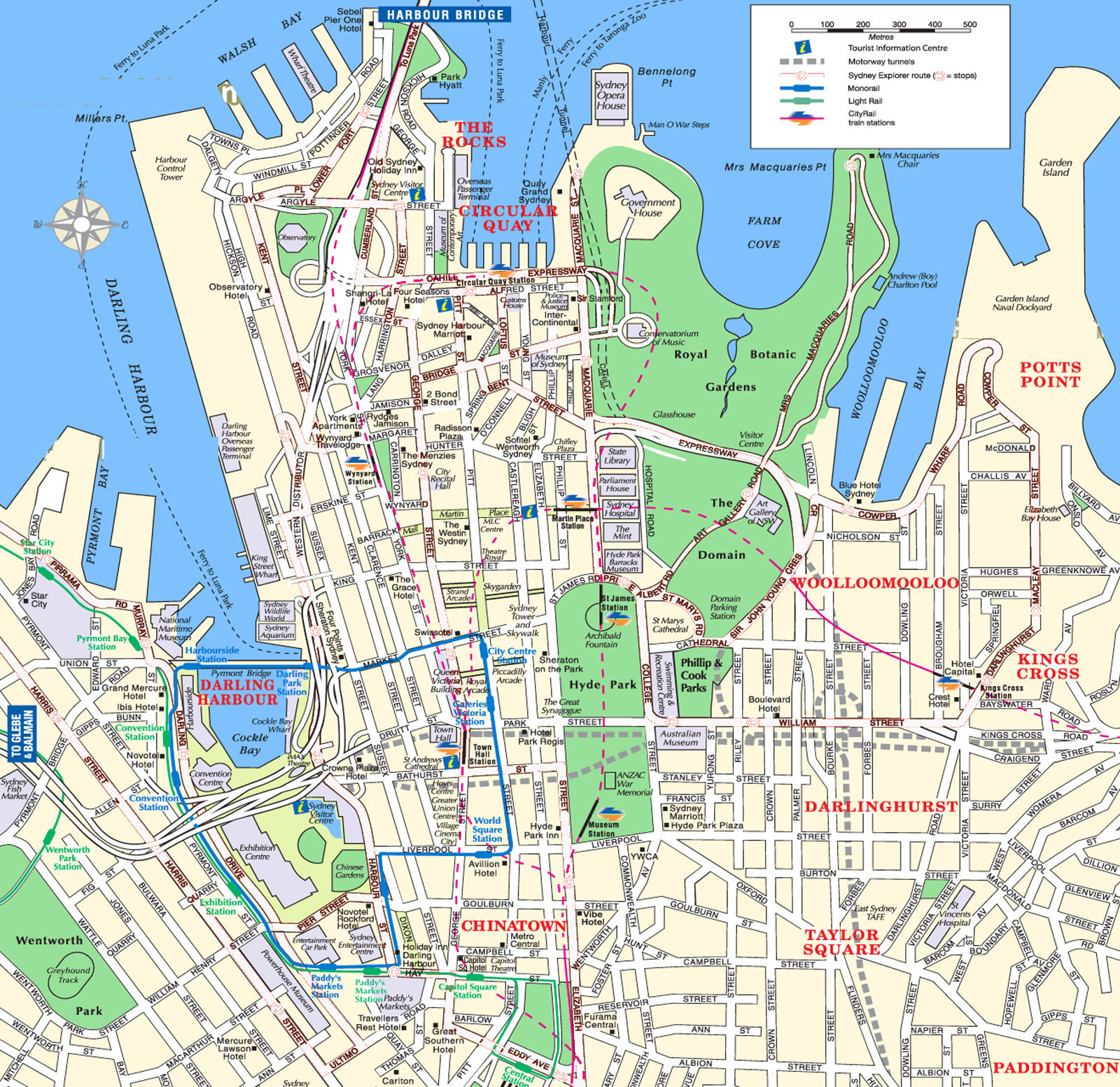 sydney attractions map pdf