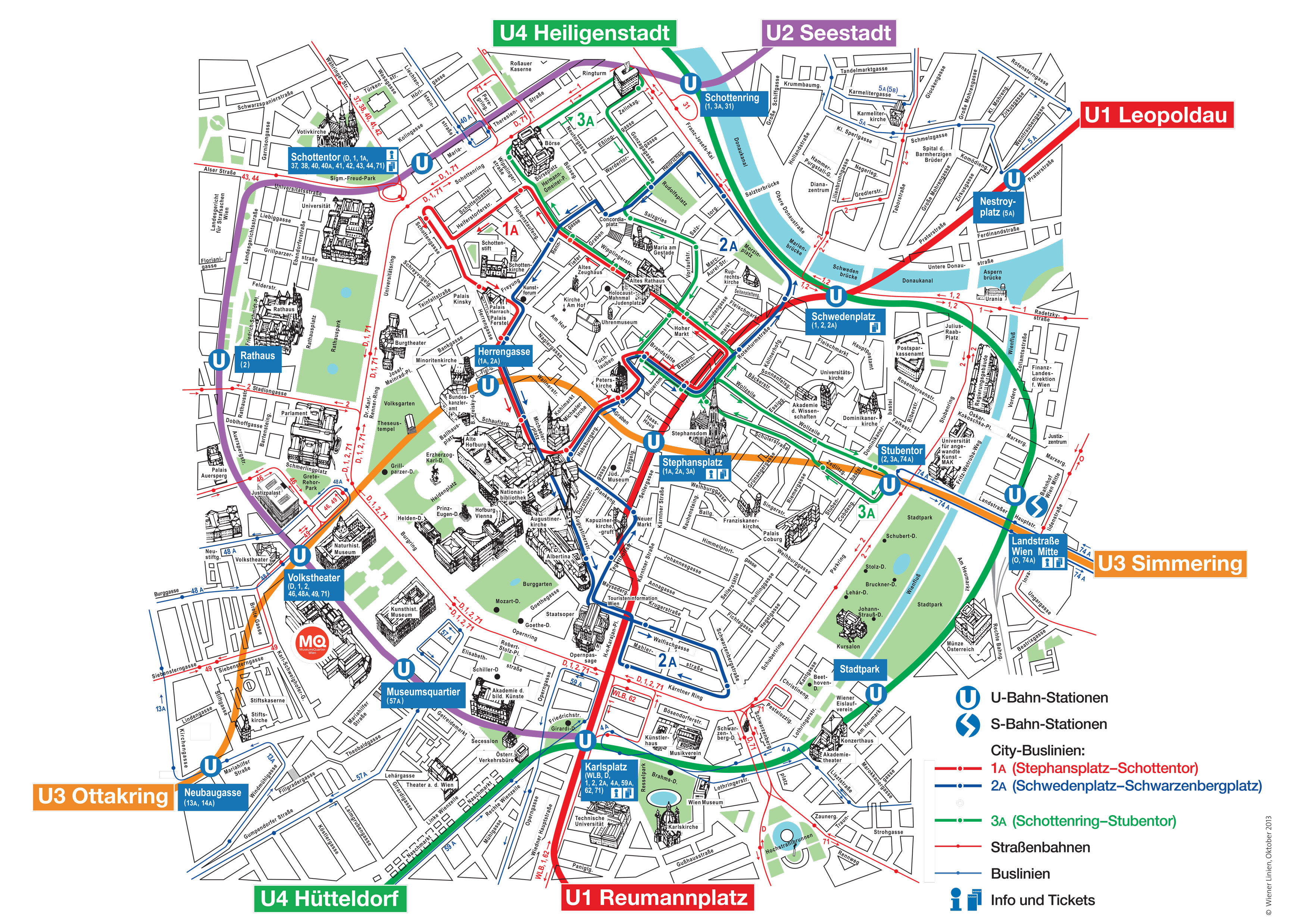 Paris Map With Attractions.Vienna Attractions Map Pdf Free Printable Tourist Map Vienna