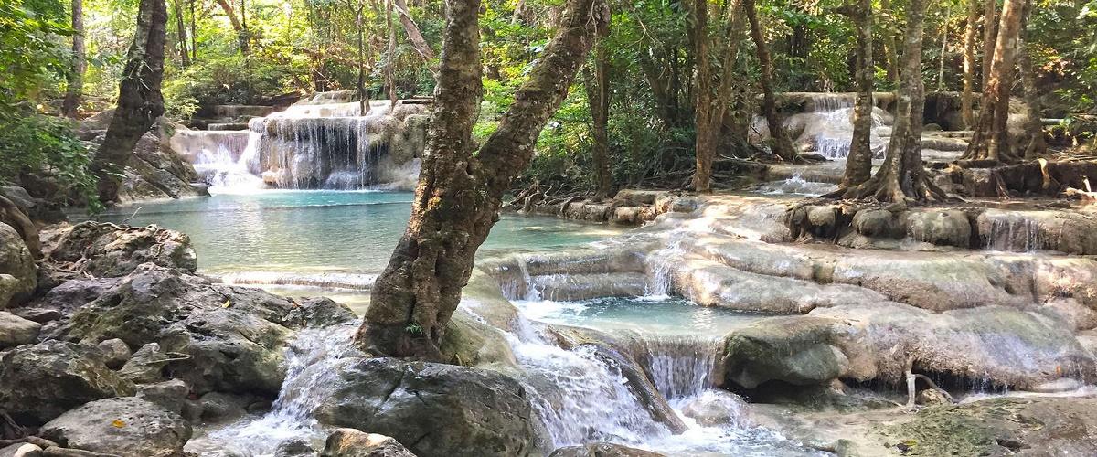 Private Erawan Waterfall & Kanchanaburi Highlights from Bangkok
