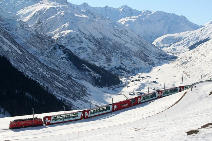 Bernina Express train and St.Moritz full day tour