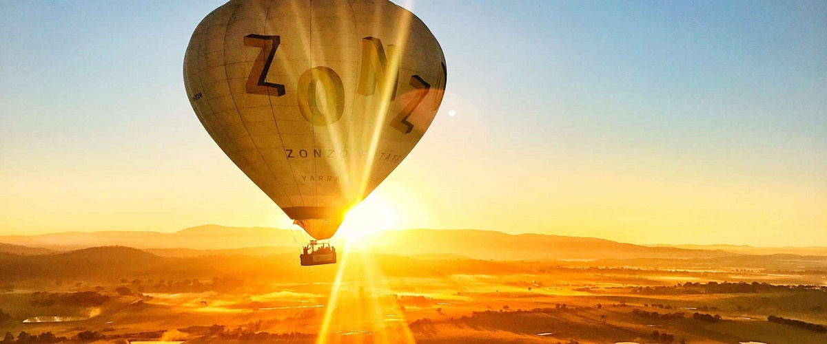 Yarra Valley Balloon Flight at Sunrise from Melbourne