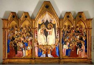 Coronation of the Virgin by Jacopo di Cione