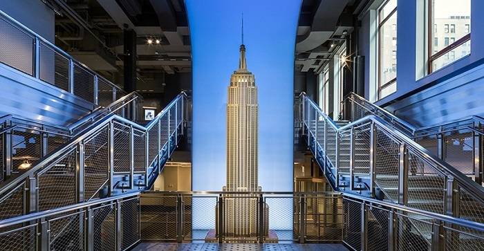 the Empire State Building observation deck