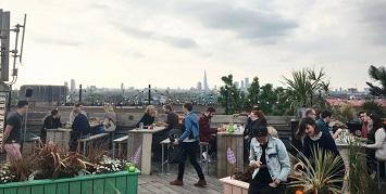 A Dinner at Peckham's Sensational Rooftop Bar