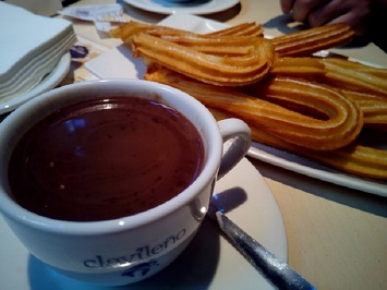Treat Yourself to a Cup of Hot Chocolate with Churros