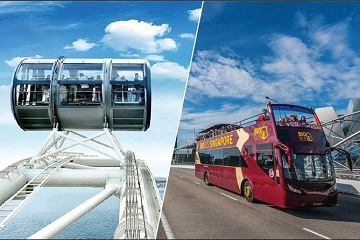 Singapore Flyer and Big Bus Hop-On Hop-Off Tour