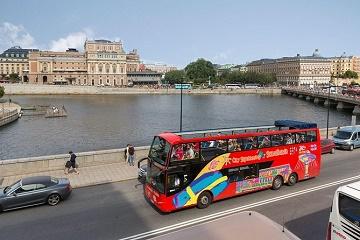 City Sightseeing Stockholm Hop-On Hop-Off Bus & Optional Boat Tour